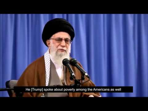 Ayatollah Khamenei On the American People\\\'s leaning toward Trump - Farsi sub English