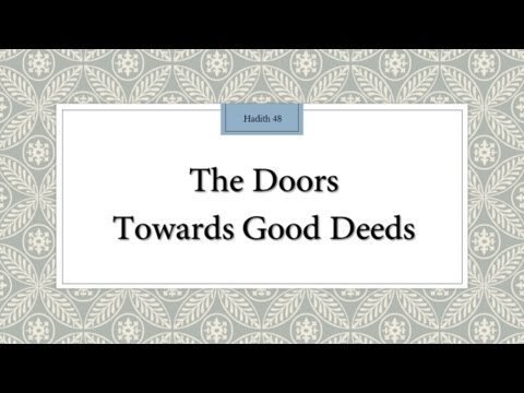 The doors towards good deeds - English