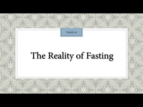 The Reality of Fasting - English