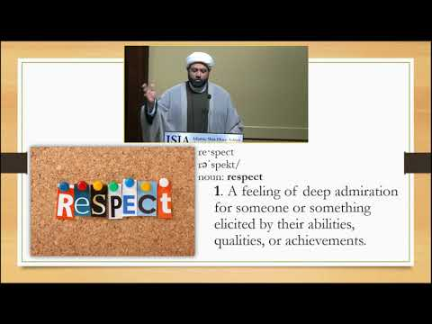 "Living a Life of ""Self-Respect\"" - English"