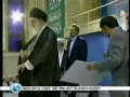 Ahmadinejad receives endorsement by the Leader - 03Aug09 - ENGLISH