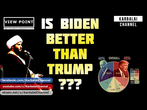 Is BIDEN better than TRUMP ? | Sh. Hamzah Sodagar | English