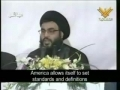 Nasrallah: Resist against the System of Complete American Hegemony - Arabic sub English