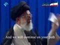 Sayyed Khameneis message to IMAM MAHDI ajtfs - Farsi sub English