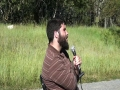 [2012 Summer Camp] QA1 Lecture on Trail near Water Fall by  Sheikh Hamza Sodagar - English