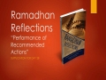 [Supplication For Day 28] Ramadhan Reflections - Performance of Recommended - Sh. Saleem Bhimji - English