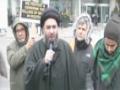 Moulana Ali Raza Rizvi at Toronto Protest Against Nigerian Killings and Sheikh ZakZaky Detention -English